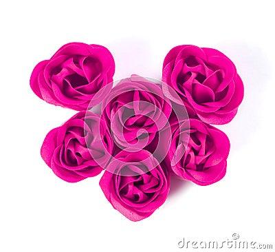 Gentle soap in the shape of flower buds