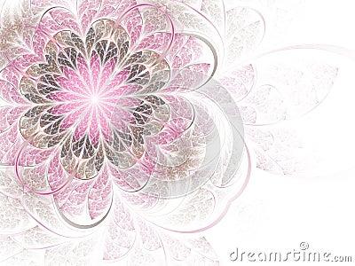 Gentle and sweet pink fractal flower