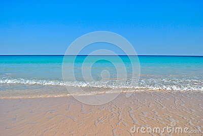 Gentle Waves on Perfect Caribbean Beach