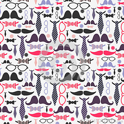 Gentleman accessories seamless pattern