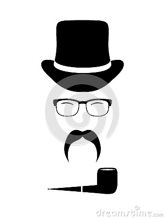 Gentleman attributes (hats, eyeglasses, mustache,
