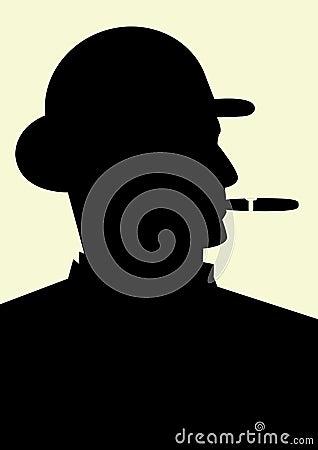 Gentleman smoking a cigar