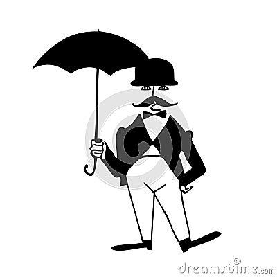 gentleman with umbrella