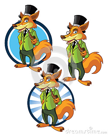 Gentleman Wolf Mascot
