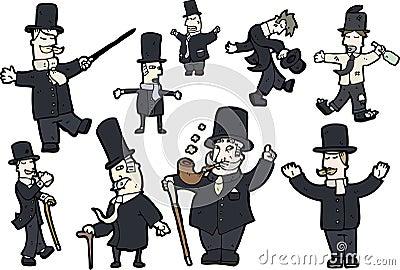 Gentlemen illustrations