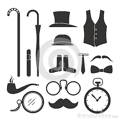 Gentlemens stuff design elements