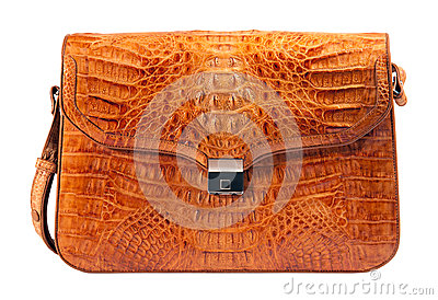 Genuine crocodile leather briefcase