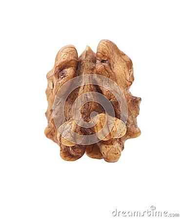 Genuine isolated walnut