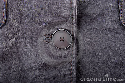 Genuine leather and buttons.