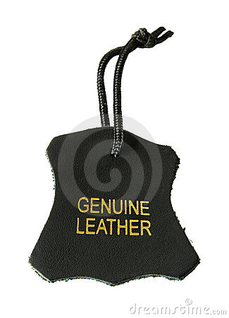 Genuine leather label