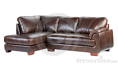 Genuine luxury leather sofa