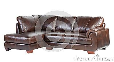 Genuine luxury leather sofa