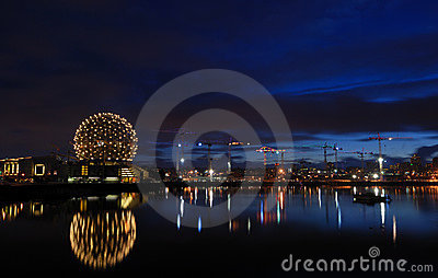 Geodesic dome of science world, vancouver