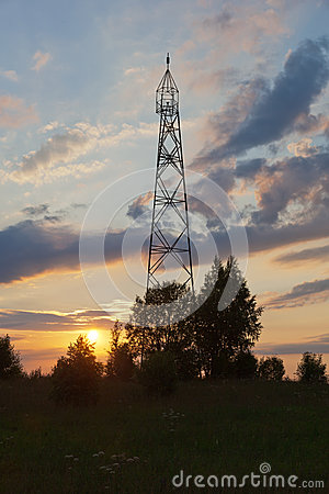 Geodetic point in Russia.