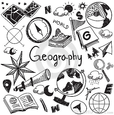 Free Geography And Geology Education Subject Handwriting Doodle Icon Royalty Free Stock Photos - 65611888