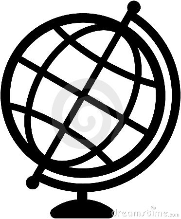 Geography earth globe icon -  illustration