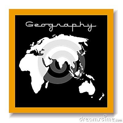 Geography educaton black board