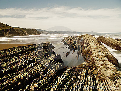 Geologic folds in Zumaias beach