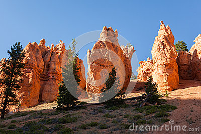 Geological formations in Bryce canyon