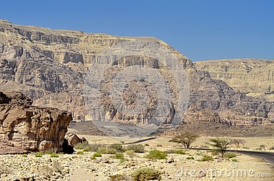 Geological formations in Timna Park, Israel