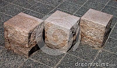 Geometria cúbica das pedras