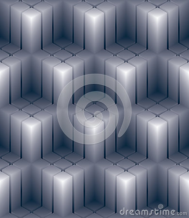 Free Geometric 3d Decorative Wallpaper, Abstract Squared Seamless Pat Royalty Free Stock Image - 47125356
