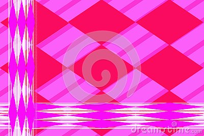 Geometric abstract pattern. Lilac elongated rhombuses against white lines. Stock Photo