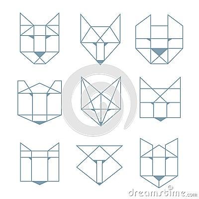 Geometric Animals Stock Vector Image 51629208