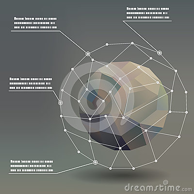 Geometric ball social networks infographics