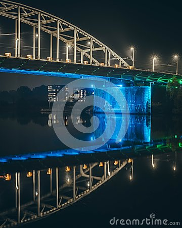 Free Geometric Blue Bridge To Another World Royalty Free Stock Photos - 106178468