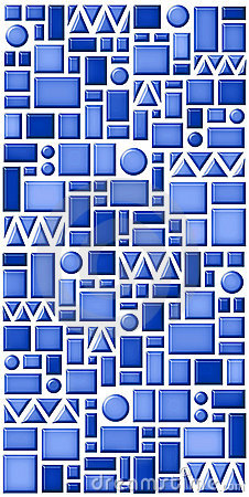 Geometric blue tile pattern