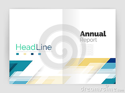 Red Technology Business Brochure Leaflet Flyer Annual Report – Business Annual Report Template