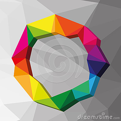 Free Geometric Circle Colour Background Royalty Free Stock Images - 39446909