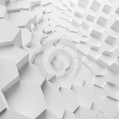 Geometric color abstract polygons extruded cells wallpaper, as crack wall Stock Photo