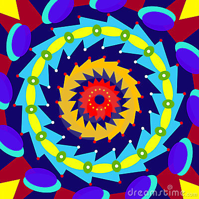 Geometric colorful circle