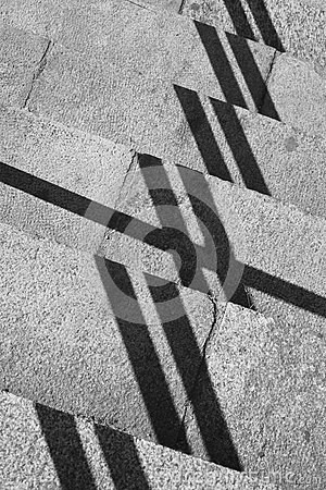 Free Geometric Composition With Shadows And Stone Steps Stock Photo - 71219670