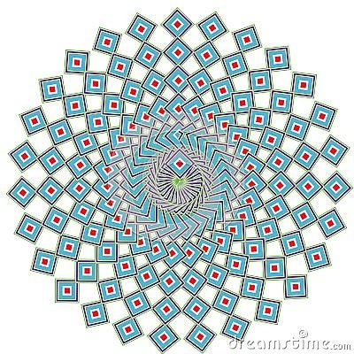 Geometric ethnic mandala