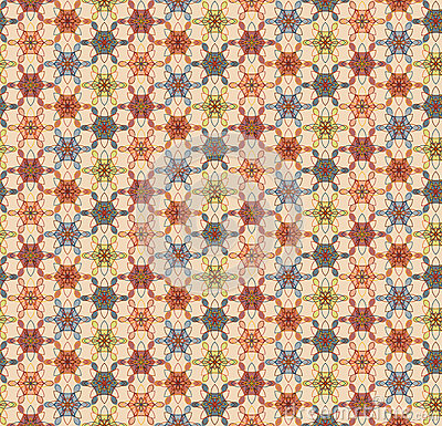 Geometric floral pattern Vector Illustration