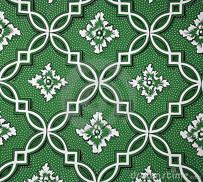 Geometric Floral Wallpaper