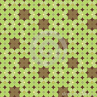 Geometric flower background