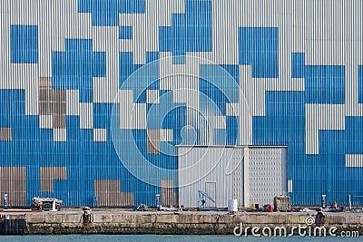 Geometric forms wall