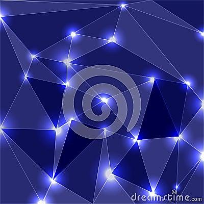 Geometric Glowing Background