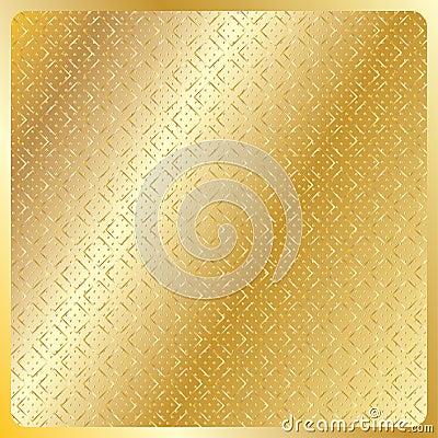 Geometric gold royal pattern