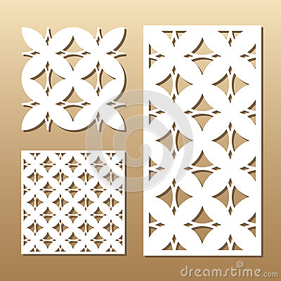 Geometric laser cut Vector Illustration