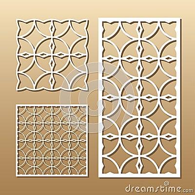 Geometric laser cut Vector Illustration