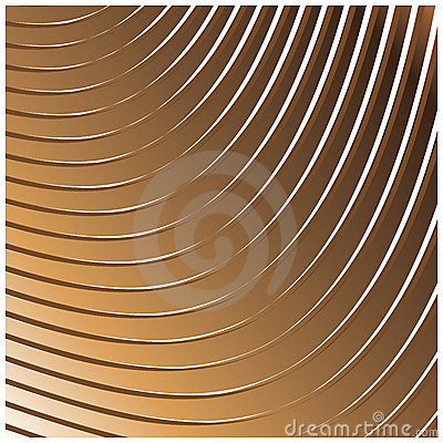 Geometric linear pattern with golden look