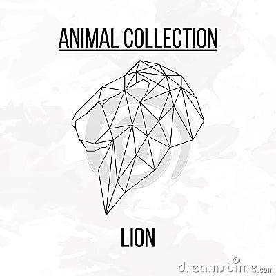 Geometric Lion Head Stock Vector Image 69905594