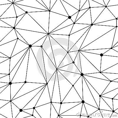 Free Geometric Mesh Seamless Pattern Royalty Free Stock Photos - 52701128
