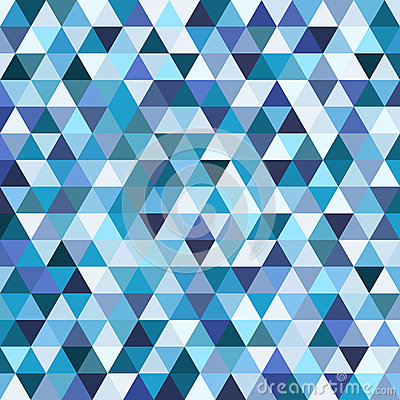 Geometric mosaic pattern from blue triangle Vector Illustration
