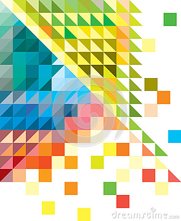 Geometric multicolored background